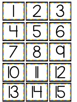 Numbers 1-25