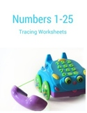 Numbers 1-25 Tracing Worksheets