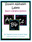 Numbers 1-30 & Alphabet Square Labels BUNDLE - Black & Bri
