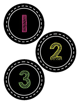 Numbers 1-30 Chalk Theme