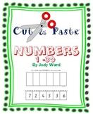 Numbers 1-30 Cut & Paste Worksheets