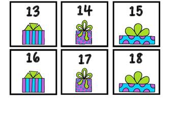 Free December Calendar Numbers 1-30
