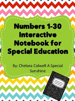 Numbers 1-30 Interactive Notebook for Special Education