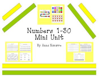 Numbers 1-30 Mini-Unit