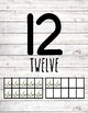Numbers 1-30 Posters ~ Farmhouse Shiplap