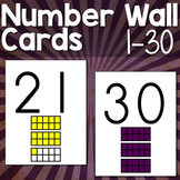 Numbers 1-30 Wall Cards with 10 Frames
