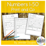 Numbers 1-50 Worksheet Set