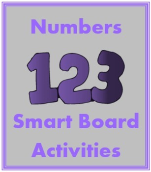 Numéros (Numbers in French) 1 to 30 Smartboard activities