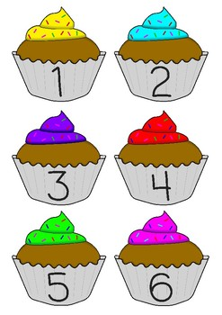 Numbers 1-30 on cupcakes.