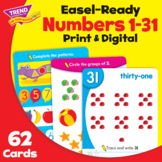 Numbers 1-31 Activity Cards Practice | Print & Digital