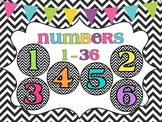 Numbers 1-36