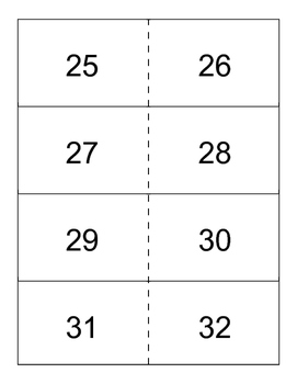 Numbers 1-40 flashcards