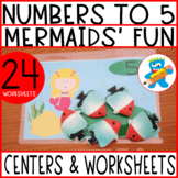 Numbers 1-5 Complete Mermaids' Unit. 7 fun and engaging re