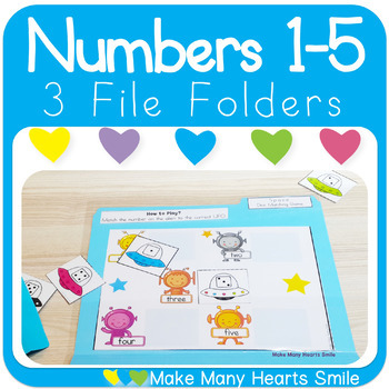 Numbers 1-5 File Folders: Get 3 for $2