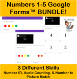 Numbers 1-5 Google Forms BUNDLE!