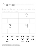 Numbers 1-5 Matching Worksheet