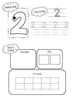 Numbers 1-5:  Number Sense Book
