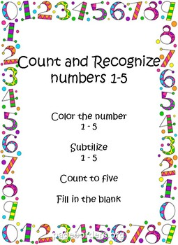 Numbers 1-5 Packet