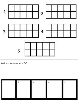Numbers 1-5 Practice
