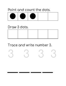 Numbers 1-5 Practice Pack