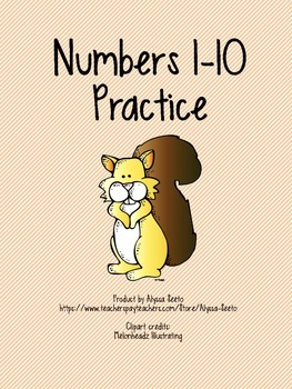 Numbers 1 to 10 Practice Sheets