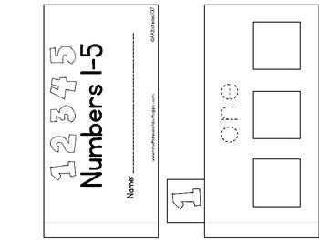 Numbers 1-5 Tab Book