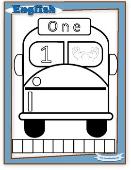 HUGE FREEBIE - Numbers 1-5 / school bus