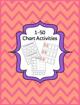 Numbers 1-50 Activities, Centers and More!