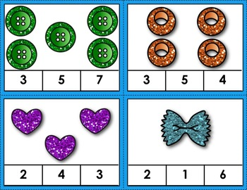 Numbers 1-50 Count and Clip