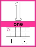 Numbers 1-50 Posters Classroom Decoration