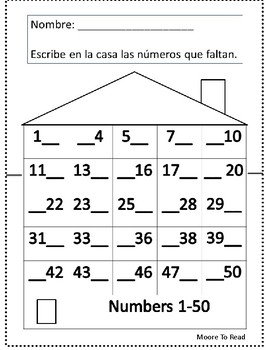 Numbers 1-50-Spanish