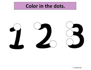 Numbers 1-12 with One to One Correspondence with Dice for Autism