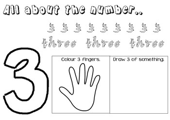 All about the numbers 1-9 worksheets