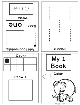 Numbers 1-9  Mini-books for Early Learners