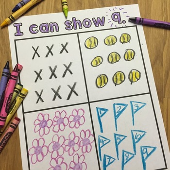 Numbers- 1 through 10 - Draw Sets to Match Number - Kindergarten and Pre-K
