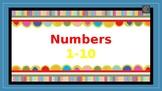 Numbers 1 thru 10