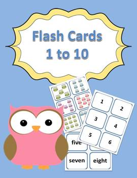 Numbers 1 to 10 Flash Cards