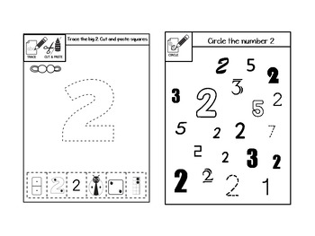 Numbers 0 to 10 Interactive Notebook INB