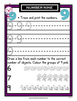 Numbers 1 to 10 - Learning Numbers from 1 to 10-Kindergarten Grade 1 (1st Grade)