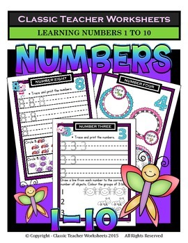 Numbers 1 to 10 - Learning Numbers from 1 to 10-Kindergart