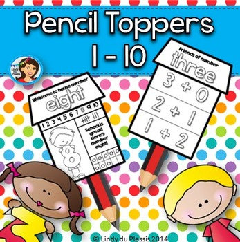 Numbers 1 to 10 Pencil Toppers