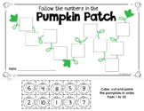 Numbers 1 to 10 - Pumpkin Cut-and-Paste