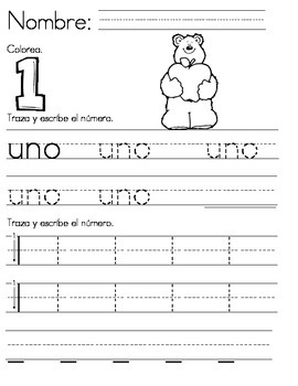 Numbers 1 to 10 (Spanish)