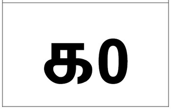 Numbers 1 to 10 in English, Tamil, Chinese, Arabic and Hindi numerals