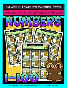 Numbers 1 to 100 -Determine Which Number Is Smaller - Grad