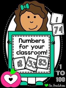 Numbers 1 to 100 ~ Black & White ~ Calendar ~ Math ~ Organ