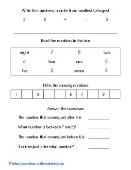 Numbers 1 to 100 - Homework Handout