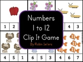 Numbers 1 to 12 Clip It Game {Common Core Counting and Cardinality}
