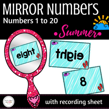Summer Center - Numbers 1 to 20 Activity : Secret Number in Mirror