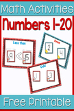 Numbers 1 to 20 Centers: Odd/Even, Greater Than/Less Than